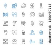 chocolate icons set. collection ... | Shutterstock .eps vector #1306497115