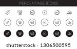 percentage icons set.... | Shutterstock .eps vector #1306500595