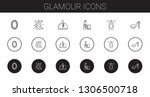 glamour icons set. collection... | Shutterstock .eps vector #1306500718