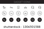 gadget icons set. collection of ... | Shutterstock .eps vector #1306501588