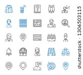 user icons set. collection of... | Shutterstock .eps vector #1306503115