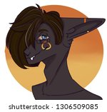 pony furry head | Shutterstock . vector #1306509085