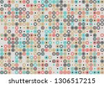 beautiful seamless geometric... | Shutterstock .eps vector #1306517215
