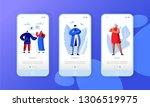 social media network business... | Shutterstock .eps vector #1306519975