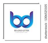 bd b d circle lowercase design... | Shutterstock .eps vector #1306525105