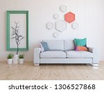 idea of a white scandinavian... | Shutterstock . vector #1306527868