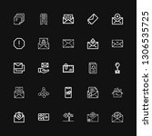 editable 25 envelope icons for... | Shutterstock .eps vector #1306535725