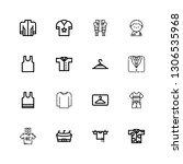 editable 16 shirt icons for web ... | Shutterstock .eps vector #1306535968