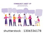 community meet up for sharing... | Shutterstock .eps vector #1306536178