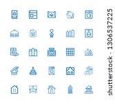 editable 25 residential icons... | Shutterstock .eps vector #1306537225