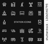 editable 22 station icons for... | Shutterstock .eps vector #1306540795