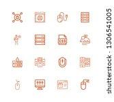 editable 16 www icons for web...   Shutterstock .eps vector #1306541005