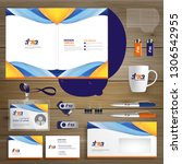 corporate business identity... | Shutterstock .eps vector #1306542955