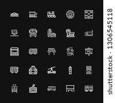 editable 25 bus icons for web... | Shutterstock .eps vector #1306545118
