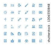 editable 36 pencil icons for... | Shutterstock .eps vector #1306550848