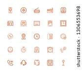 editable 25 dial icons for web... | Shutterstock .eps vector #1306553698