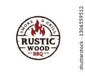 vintage rustic barbeque logo... | Shutterstock .eps vector #1306559512