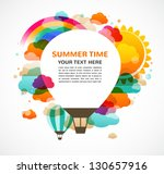 hot air balloon  colorful... | Shutterstock .eps vector #130657916