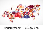 russia map with vector icons | Shutterstock .eps vector #130657928
