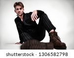 young fashion men's model tests....   Shutterstock . vector #1306582798