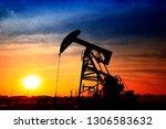 the oil pump  industrial... | Shutterstock . vector #1306583632