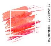 watercolor coral brushstroke... | Shutterstock .eps vector #1306590472