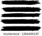 grunge paint roller . vector... | Shutterstock .eps vector #1306600135