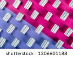 colorful marshmallow is laid... | Shutterstock . vector #1306601188