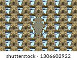 pattern  with the image of a... | Shutterstock . vector #1306602922