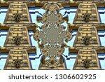 pattern  with the image of a... | Shutterstock . vector #1306602925