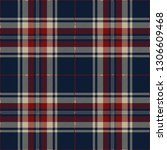 beige  red and blue tartan... | Shutterstock .eps vector #1306609468
