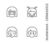 linear ninja  crying  evil ...   Shutterstock .eps vector #1306616512