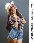young beautiful sexy girl in...   Shutterstock . vector #1306618795
