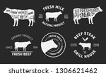 set of cow and beef logos. cow... | Shutterstock .eps vector #1306621462