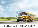 School Bus Driving On The...
