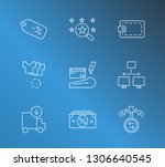 commerce icon set and discount...