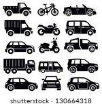 vector black transportation... | Shutterstock .eps vector #130664318