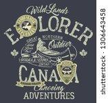 canada canoe trail outdoor... | Shutterstock .eps vector #1306643458
