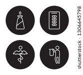 4 linear vector icon set  ... | Shutterstock .eps vector #1306645798