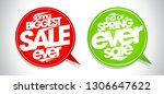 spring biggest sale ever  end... | Shutterstock .eps vector #1306647622
