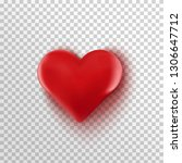 3d eed heart isolated on... | Shutterstock .eps vector #1306647712