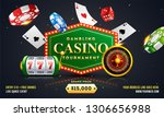 gambling casino tournament... | Shutterstock .eps vector #1306656988