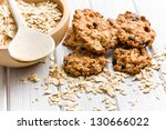 Sweet Homemade Cookie With Oat...