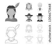 vector illustration of imitator ... | Shutterstock .eps vector #1306673668