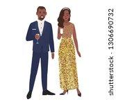 african american couple in posh ... | Shutterstock . vector #1306690732