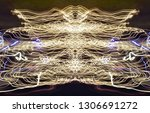 abstract symmetrical... | Shutterstock . vector #1306691272