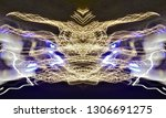abstract symmetrical... | Shutterstock . vector #1306691275