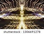 abstract symmetrical... | Shutterstock . vector #1306691278