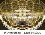 abstract symmetrical... | Shutterstock . vector #1306691302