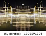 abstract symmetrical... | Shutterstock . vector #1306691305